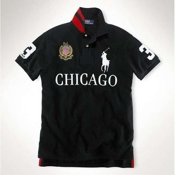 Cool Ralph Lauren Style,Mens Custom-Fit Big Pony City Polo Chicago