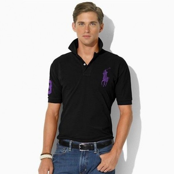 Ralph Lauren Multiple Colors,1034 Classic-Fit 2011 Big Pony Polo In Black