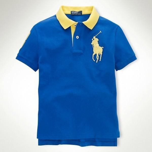 The Collection Ralph Lauren,Custom-Fit Big Pony Polo 1001 Sapphire