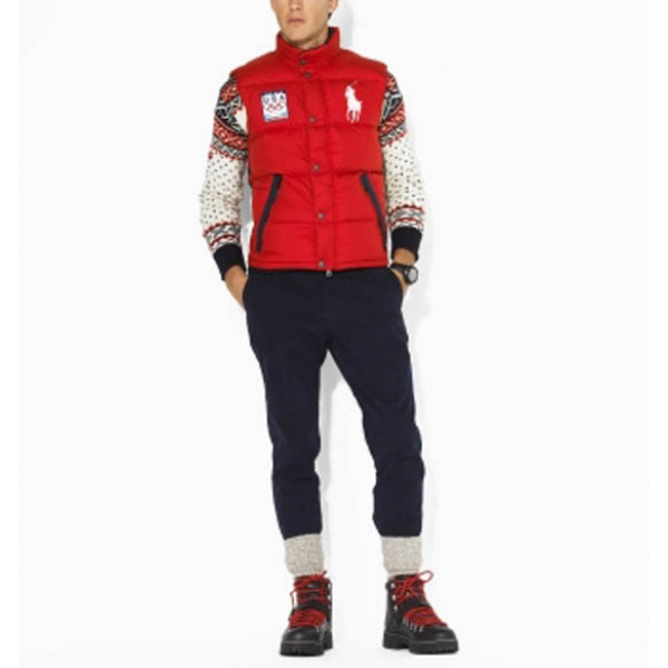 Discount Off Ralph Lauren,The USA World Cup Vest Red