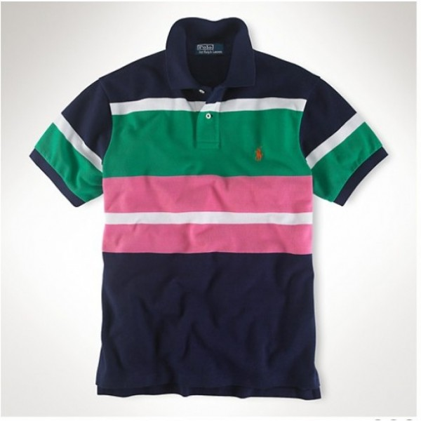 Ralph Lauren Free And Fast Shipping,Stripe Polo Men Mesh Classic Box Color