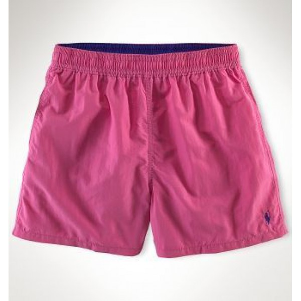 Ralph Lauren Official USA,small pony polo beach shorts in grape