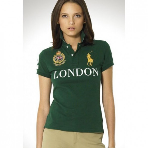 How Much Is Worth Ralph Lauren,Womens City Polo Pony London Green Short Sleeved