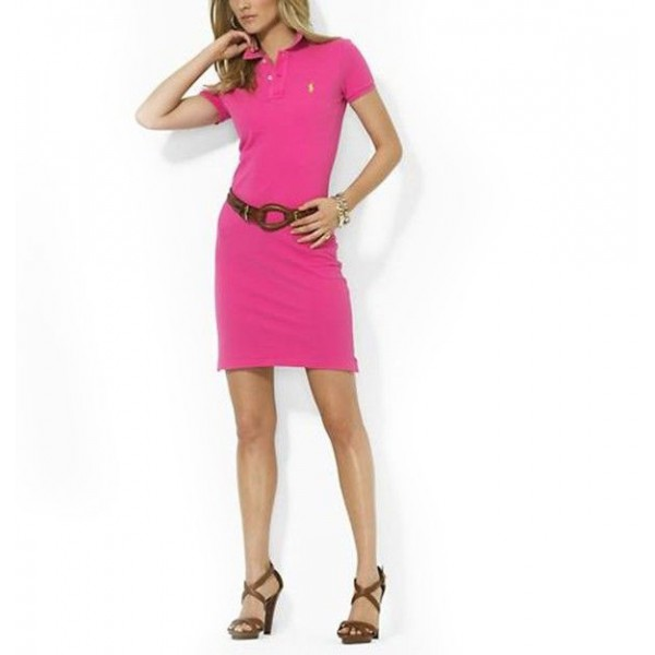 Ralph Lauren Outlet On Sale,Polo Dress Rosy For women