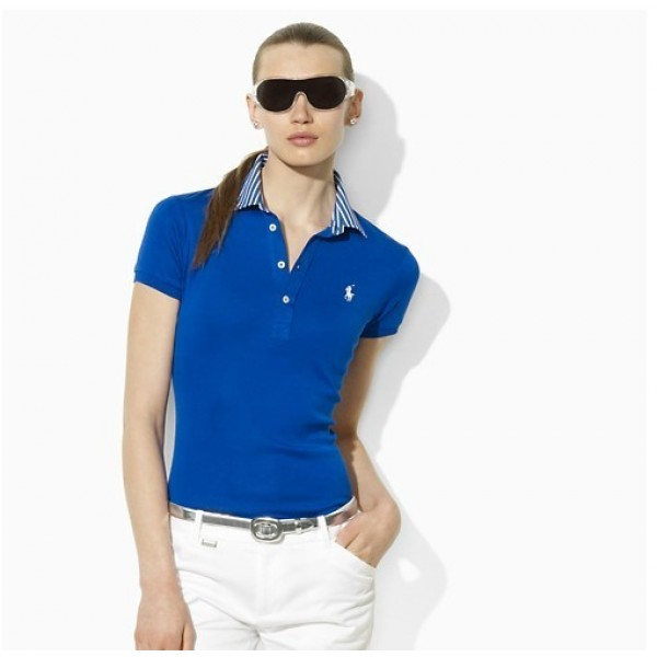 Large Discount Ralph Lauren,Women's Small Pony Polo 1002 Blue