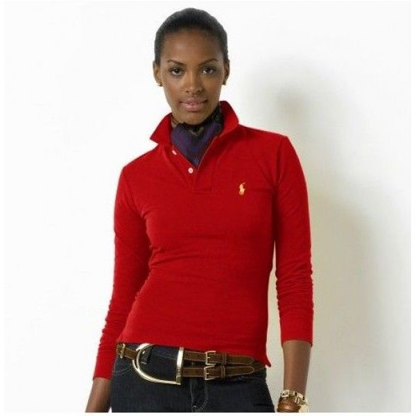 Catalog Ralph Lauren,Small Pony Polo Long Sleeved In Red