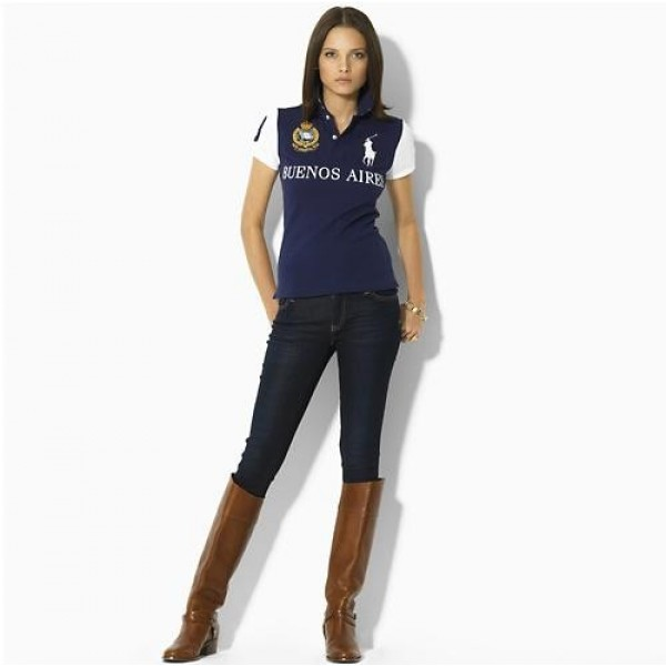Official Ralph Lauren,Womens Skinny-Fit City Polo Buenos Aires