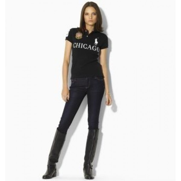 Top Quality Ralph Lauren,Womens Skinny-Fit City Polo Chicago