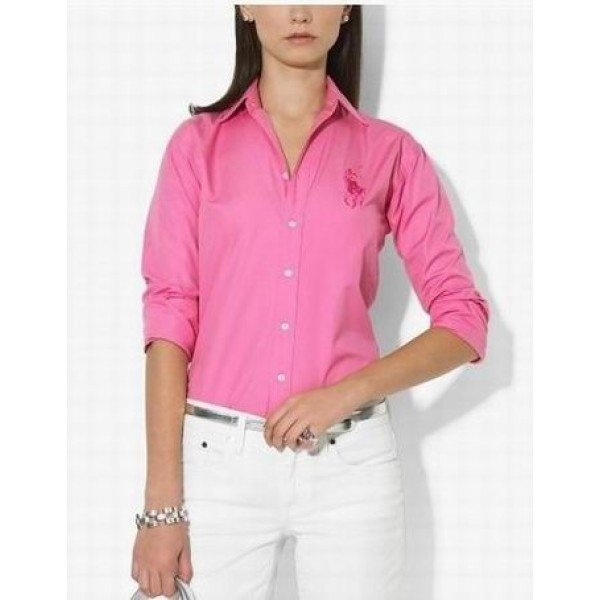 New Ralph Lauren In Store,Womens Rose big pony long shirt outlet
