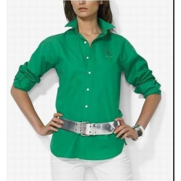 Ralph Lauren Free And Fast Shipping,Womens Green big pony shirts for sale