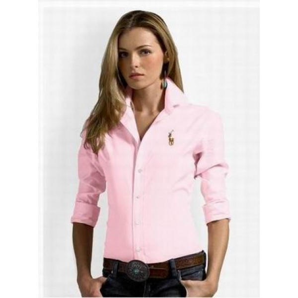 Ralph Lauren By UK,Womens Classic pink solid skinny oxford shirts