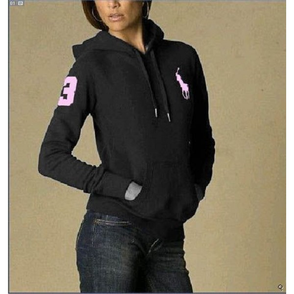 Ralph Lauren Color Fashion,Polo Hoody black women with 3 flag